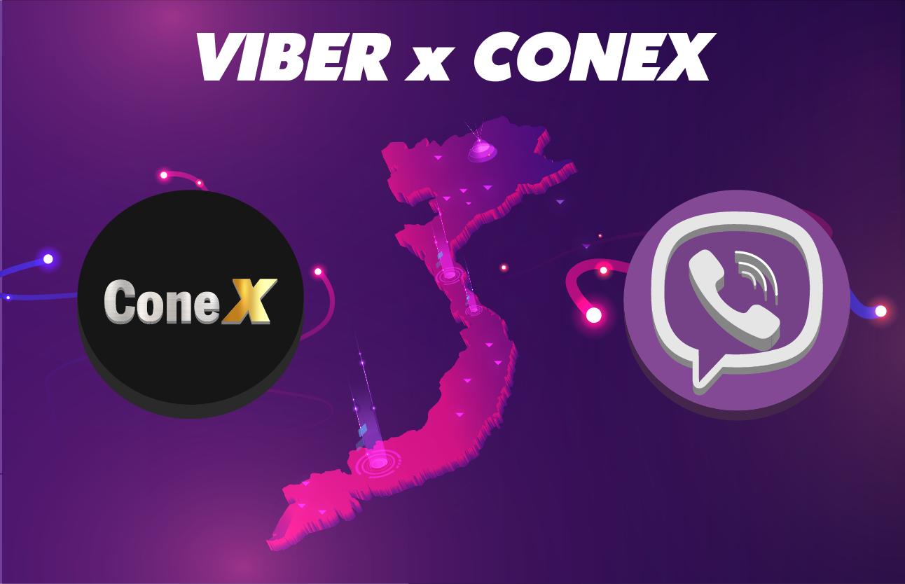 ConeX chính thức trở thành ĐỐI TÁC của VIBER tại Việt Nam